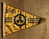 rp040 - East German Wimpel Pennant - MC Elbe Dresden Motor Sports Club