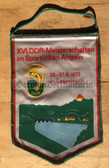 rp041 - East German Wimpel Pennant - c1972 National Sports Fishing Championships