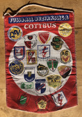 rp042 - East German Wimpel Pennant - c1989 clubs in the Cottbus local football league
