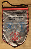 rp059 - East German Wimpel Pennant - c1976 Student Championships of the GST in Weimar