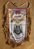 rp074 - East German Wimpel Pennant - BSG Traktor Hirschfeld - marching band