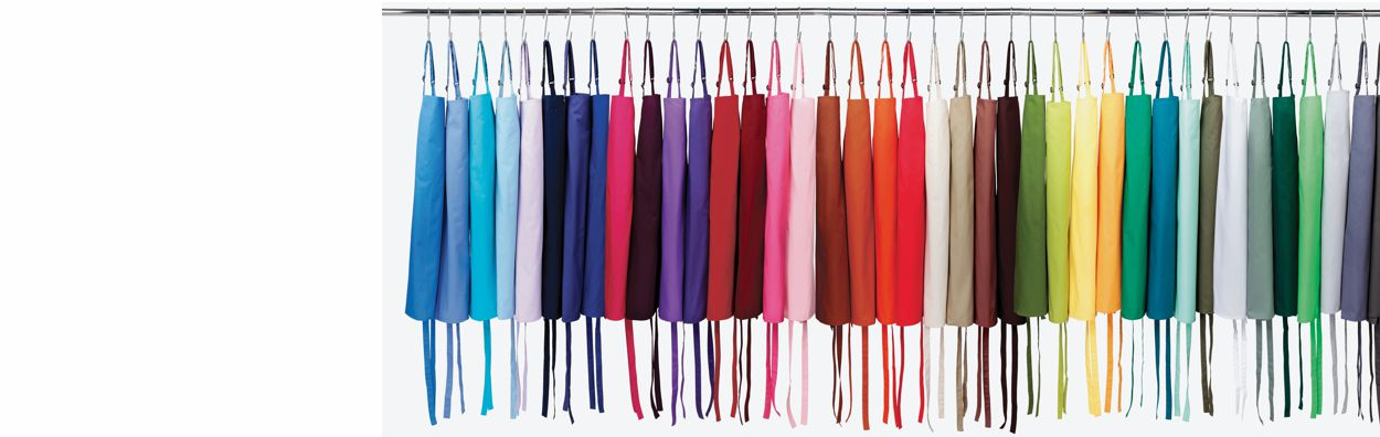 Aprons in 58 Colours