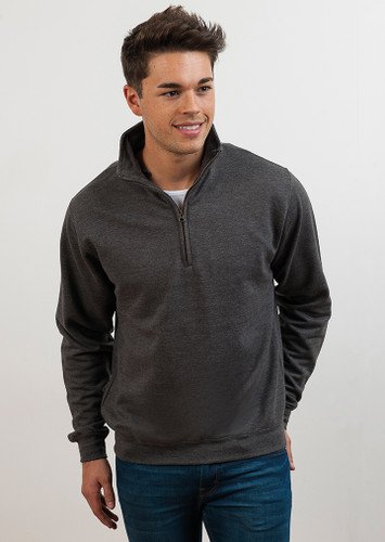 Sophomore Zip Neck Sweatshirt - AWDis JH046