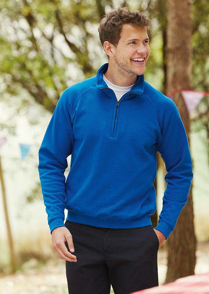 f5051d99108 Zip Neck Sweatshirt - Fruit of the Loom SS17