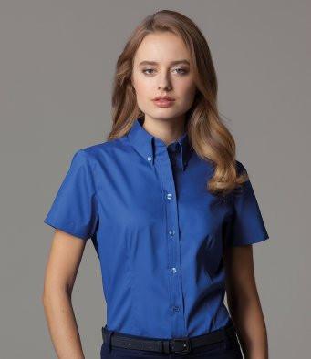 Kustom Kit Short Sleeve Oxford Blouse K701