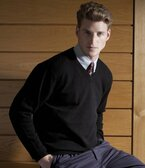 Henbury Lambswool V Neck Sweater - H730