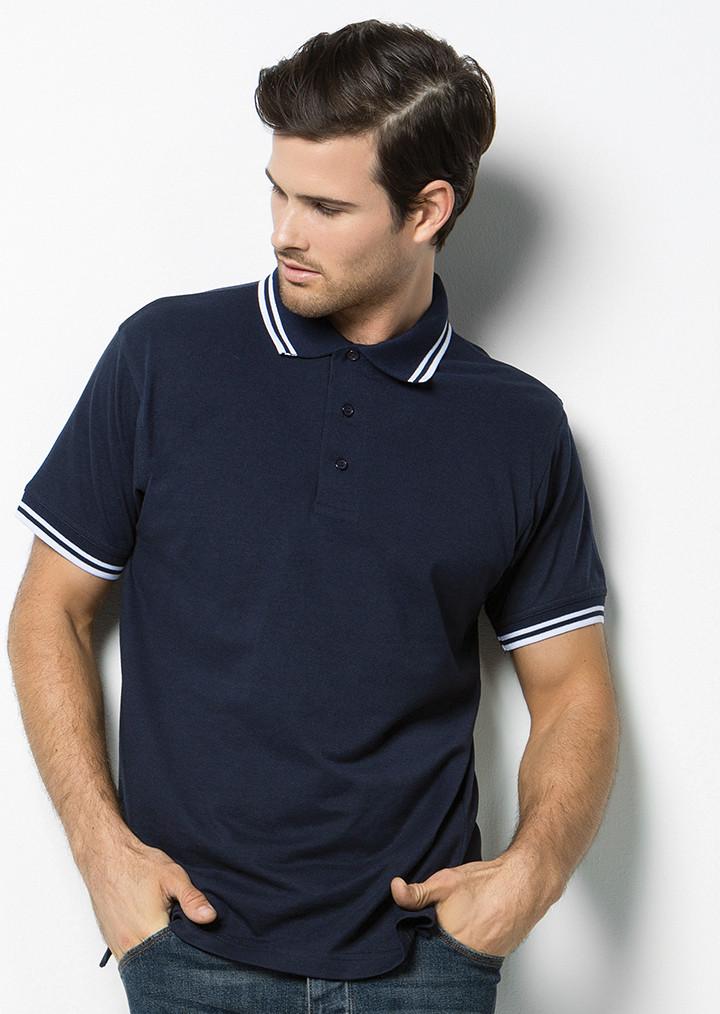 Kustom Kit K409 Contrast Tipped Pique Polo Shirt. Image 1. Loading zoom 38ff229b394