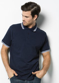 Kustom Kit K409 Contrast Tipped Pique Polo Shirt