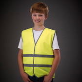 Children''s Hi Vis Waistcoat  Yellow - Perosnalise with your club logo