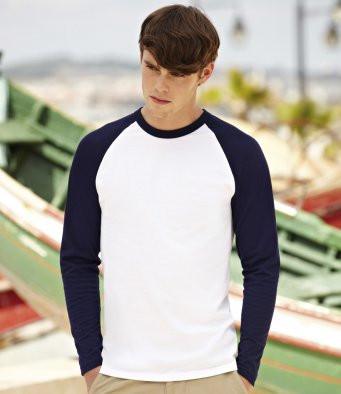 Fruit of the Loom Contrast Long Sleeve Baseball T-Shirt SS32
