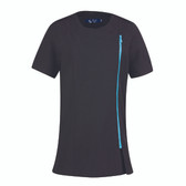 Premier Ladies Camellia Short Sleeve Tunic Black / Turquoise