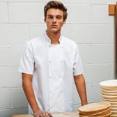 Premier Studded Front Short Sleeve Chef's Jacket PR664
