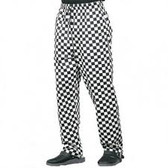 Denny's unisex check chefs trousers