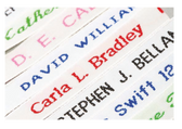 Woven Name Tapes - Choose from Sew on or Iron on