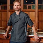 Premier Short Sleeve Zipped Chef's Jacket - PR906