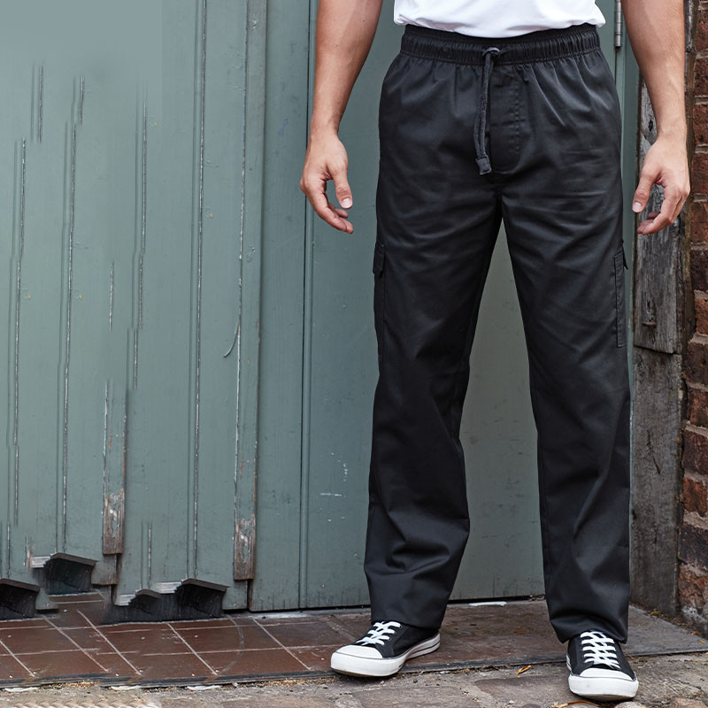 Premier Essential Chef/'s Trouser Unisex Pull On Chef/'s Trouser Work Wear Pants