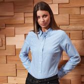 Premier Ladies Maxton Check Long Sleeve Shirt - PR352