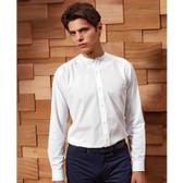 Premier Unisex Long Sleeve Grandad Shirt - PR258