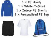 Lindley Infant PE Pack  - Includes 1 PE Hoody, 1 T-Shirt, 1 Shorts & 1 Bag