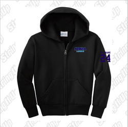 Medusa Lacrosse Port & Company® Core Fleece Full-Zip Hooded Sweatshirt -Youth