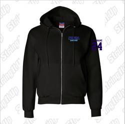 Medusa Lacrosse Champion® Full-Zip Hooded Sweatshirt- Adult