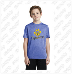 Oquenock Youth Sport-Tek® Performance Heather Contender™ Tee Royal