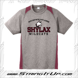 SHYLax Sport-Tek Heather Colorblock Contender Tee - YOUTH
