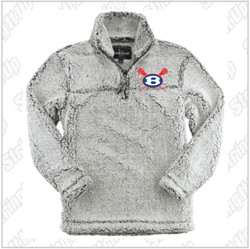 Bellport Frosty Grey Boxercraft Sherpa Quarter Zip Pullover