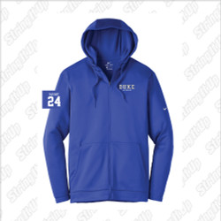 Duke Men's Nike Therma-FIT Full-Zip Fleece Hoodie