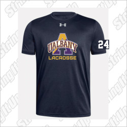 Albany Men's Under Armour Short Sleeve Locker Tee Black