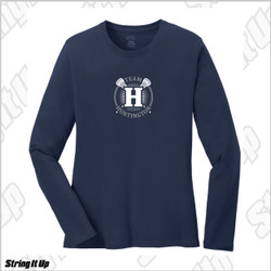 Team Huntington Port & Co. Women's Staple Long Sleeve Tee