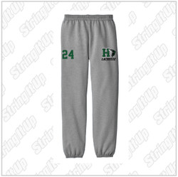 Harborfields Lacrosse Youth Heather Grey Sweatpants - YOUTH