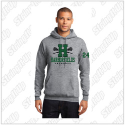 Harborfields Lacrosse Adult Heather Grey Hoodie