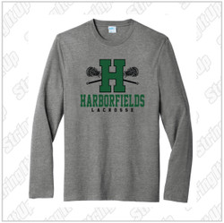 Harborfields Lacrosse Adult Port & Company® Fan Favorite ™ Long Sleeve Blend Tee