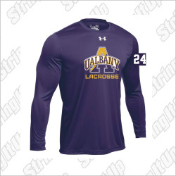 Albany Men's Under Armour Long Sleeve Locker Tee Purple