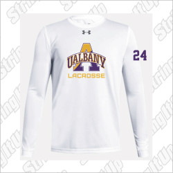 Albany Men's Under Armour Long Sleeve Locker Tee White