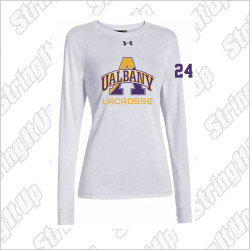 Albany Women's Under Armour Long Sleeve Locker Tee White