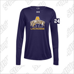 Albany Women's Under Armour Long Sleeve Locker Tee Purple