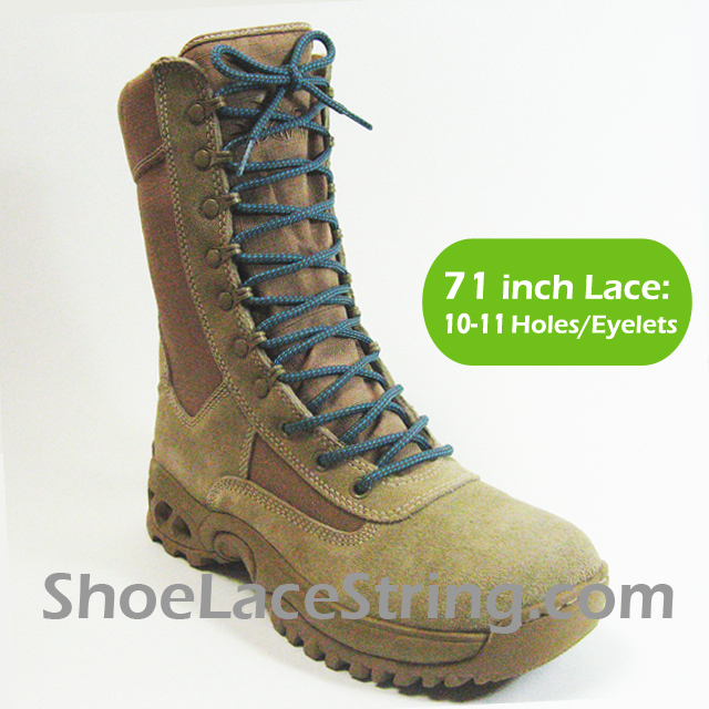 71 inch gray light blue round boots laces