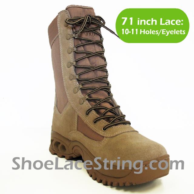 71 inch Beige Dark Brown round boots laces