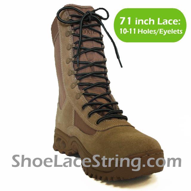 71 inch Gray Black round boots laces