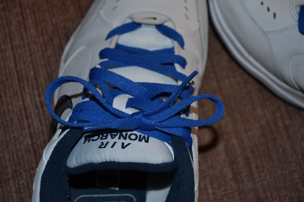 Blue Shoe Laces for NIKE White Sneakers