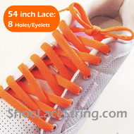 Orange 54INCH Shoe Laces Orange Shoe Strings 2Pairs
