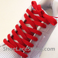 Red 54INCH Shoe Laces Red Shoe Strings 1 Pairs