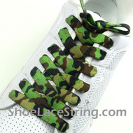 Green Camo Shoe Laces Green Camouflage Shoe Strings 2Pairs