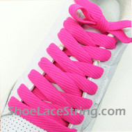 "Hot Pink 54"" Fat Laces Hotpink Flat Wide/Fat Shoe Strings 2Pairs"