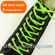 """Neon Green Round 54"""" ShoeLace Neon Green Round Shoe String  1 PRs"""