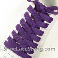 Purple 54IN Fat Laces Purple Flat Wide/Fat Shoe Strings 1 Pairs