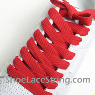 Red 54INCH Fat Laces Red Flat Wide/Fat Shoe Strings 1 Pairs