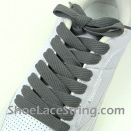 Dark Gray Fat 54IN Lace Charcoal Grey Wide/Fat ShoeString 1 PRs